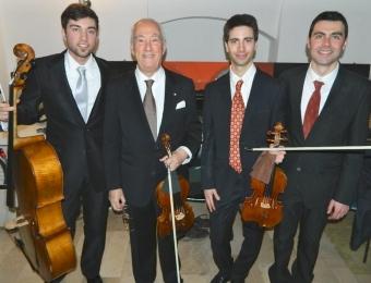 con Bruno Giuranna, Amedeo Cicchese, Francesco Basanisi